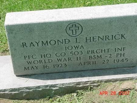 HENRICK, RAYMOND L - Scott County, Iowa | RAYMOND L HENRICK