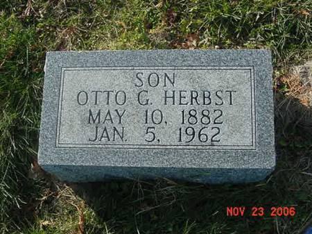 HERBST, OTTO G - Scott County, Iowa   OTTO G HERBST
