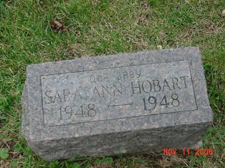 HOBART, SARAH ANN - Scott County, Iowa | SARAH ANN HOBART