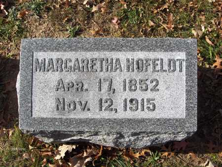 HOFELDT, MARGARETHA - Scott County, Iowa | MARGARETHA HOFELDT