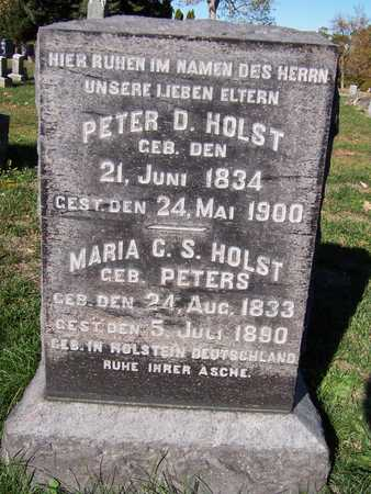 PETERS HOLST, MARIA G.S. - Scott County, Iowa | MARIA G.S. PETERS HOLST