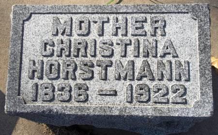 HORSTMANN, CHRISTINA - Scott County, Iowa   CHRISTINA HORSTMANN