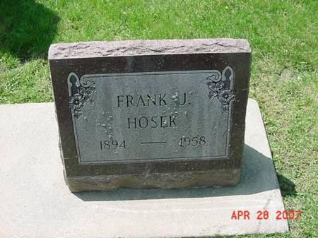 HOSEK, FRANK J - Scott County, Iowa | FRANK J HOSEK