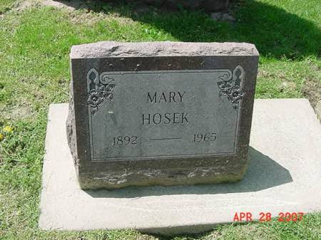 HOSEK, MARY - Scott County, Iowa | MARY HOSEK