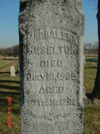 HOSELTON, MAGDALENA - Scott County, Iowa | MAGDALENA HOSELTON
