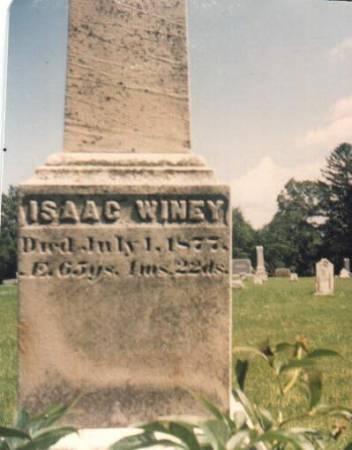 WINEY, ISAAC - Scott County, Iowa   ISAAC WINEY