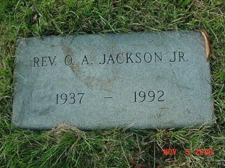 JACKSON, O.A. JR - Scott County, Iowa   O.A. JR JACKSON