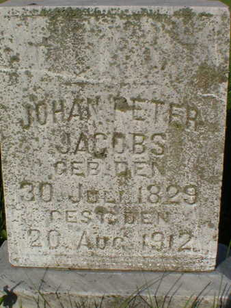 JACOBS, JOHANN PETER - Scott County, Iowa | JOHANN PETER JACOBS