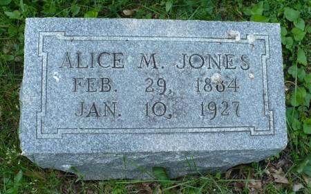 JONES, ALICE M. - Scott County, Iowa   ALICE M. JONES