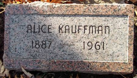KAUFFMAN, ALICE - Scott County, Iowa | ALICE KAUFFMAN
