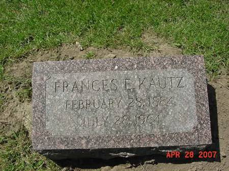KAUTZ, FRANCES E - Scott County, Iowa | FRANCES E KAUTZ