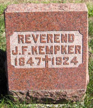 KEMPKER, REV. J.F. - Scott County, Iowa | REV. J.F. KEMPKER