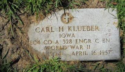 KLUEBER, CARL  H. - Scott County, Iowa | CARL  H. KLUEBER