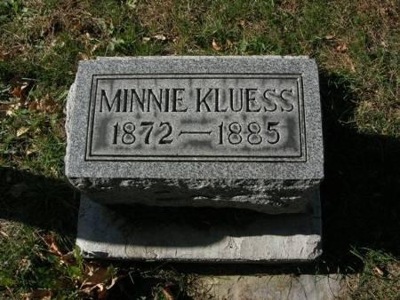 KLUESS, MINNIE - Scott County, Iowa   MINNIE KLUESS