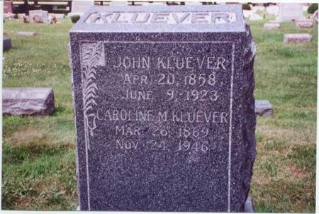 KLUEVER AND BUNGE, JOHANN AND CAROLINE - Scott County, Iowa | JOHANN AND CAROLINE KLUEVER AND BUNGE