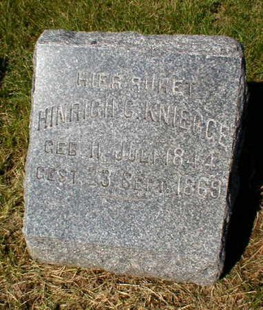 KNIEGGE, HINRICH C. - Scott County, Iowa | HINRICH C. KNIEGGE