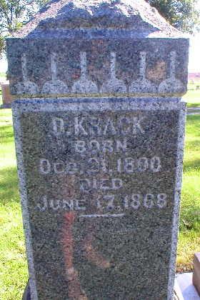 KRACK, D. - Scott County, Iowa   D. KRACK