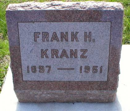 KRANZ, FRANK H. - Scott County, Iowa   FRANK H. KRANZ