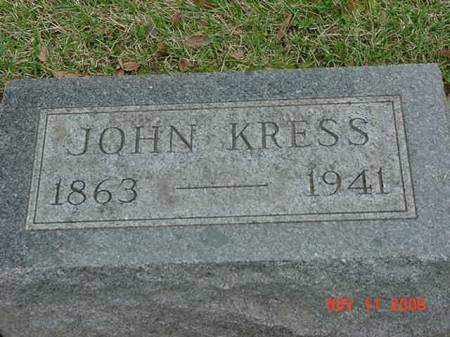 KRESS, JOHN - Scott County, Iowa | JOHN KRESS