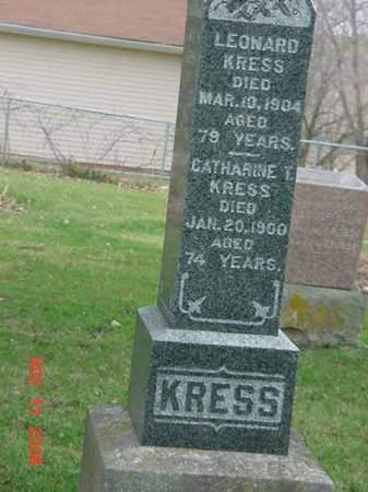 KRESS, LEONARD - Scott County, Iowa | LEONARD KRESS