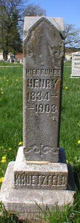 KRUETZFELD, HENRY - Scott County, Iowa | HENRY KRUETZFELD