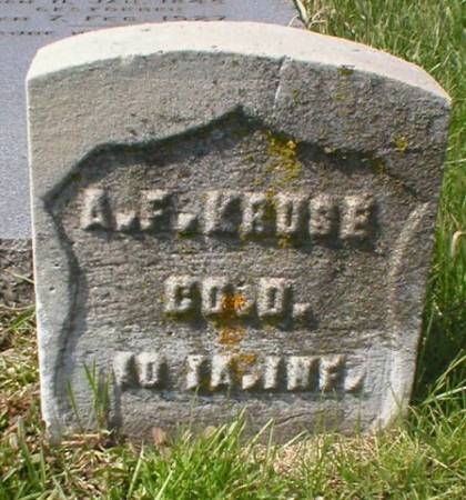 KRUSE, A. F. - Scott County, Iowa | A. F. KRUSE