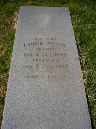WUNDER KRUSE, LOUISE - Scott County, Iowa | LOUISE WUNDER KRUSE