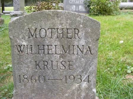 KRUSE, WILHELMINA - Scott County, Iowa | WILHELMINA KRUSE