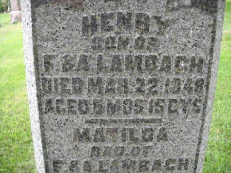 LAMBACH, HENRY - Scott County, Iowa | HENRY LAMBACH