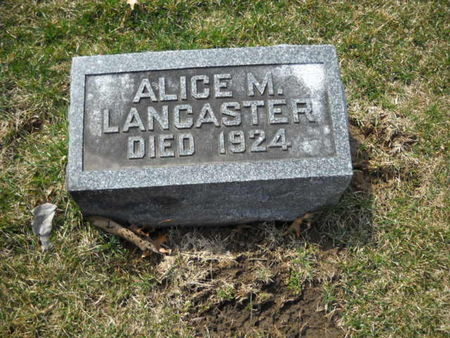 LANCASTER, ALICE  M - Scott County, Iowa | ALICE  M LANCASTER