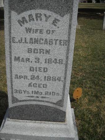 LANCASTER, MARY  E - Scott County, Iowa | MARY  E LANCASTER