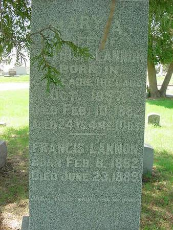 LANNON, FRANCIS - Scott County, Iowa | FRANCIS LANNON