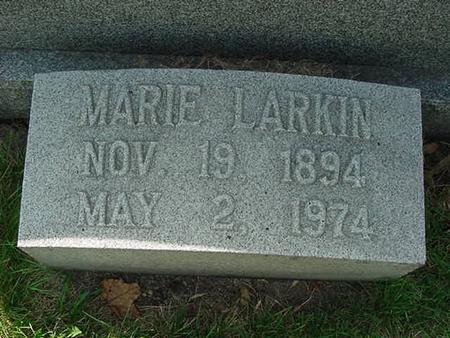 LARKIN, MARIE - Scott County, Iowa | MARIE LARKIN