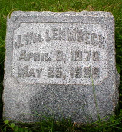 LEHMBECK, JOHN WILLIAM - Scott County, Iowa | JOHN WILLIAM LEHMBECK