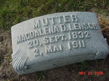 LENSCH, MAGDALENA D - Scott County, Iowa | MAGDALENA D LENSCH