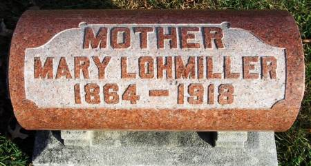LOHMILLER, MARY - Scott County, Iowa | MARY LOHMILLER