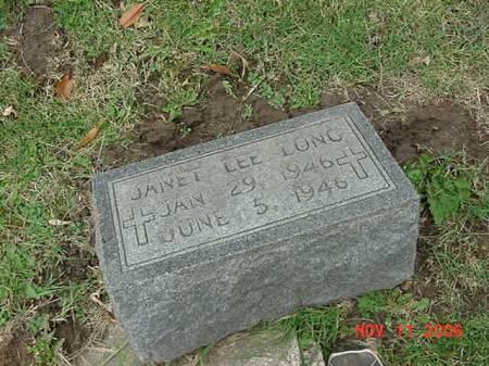LONG, JANET LEE - Scott County, Iowa | JANET LEE LONG
