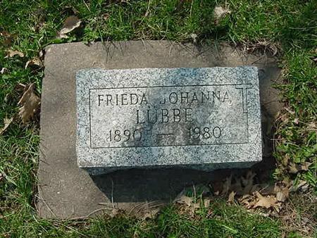 LUBBE, FRIEDA JOHANNA - Scott County, Iowa | FRIEDA JOHANNA LUBBE