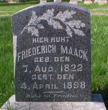 MAACK, FRIEDERICH - Scott County, Iowa | FRIEDERICH MAACK
