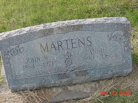 MARTENS, JOHN W - Scott County, Iowa | JOHN W MARTENS