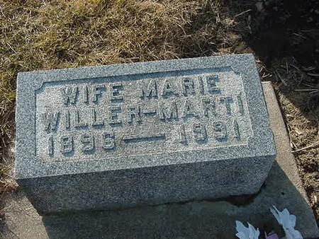 WILLER MARTI, MARIE - Scott County, Iowa | MARIE WILLER MARTI