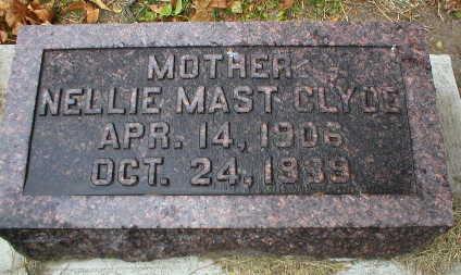MAST CLYDE, NELLIE - Scott County, Iowa | NELLIE MAST CLYDE