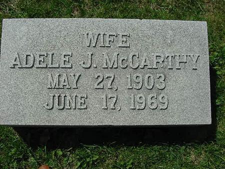 MCCARTHY, ADELE J - Scott County, Iowa | ADELE J MCCARTHY