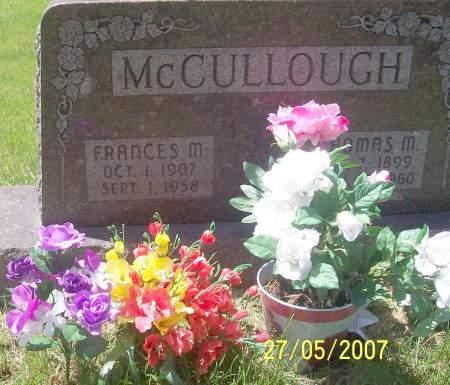 MCCULLOUGH, FRANCES M - Scott County, Iowa | FRANCES M MCCULLOUGH