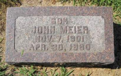 MEIER, JOHN - Scott County, Iowa | JOHN MEIER