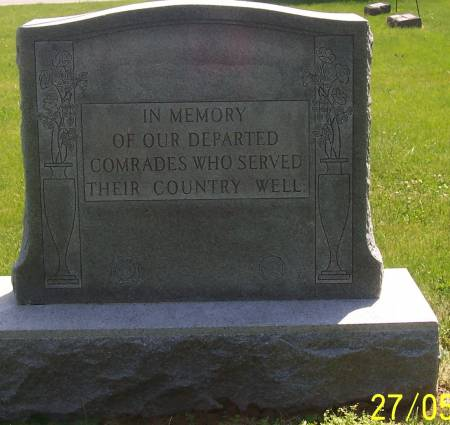MEMORIAL STONE, BUFFALO  - Scott County, Iowa | BUFFALO  MEMORIAL STONE