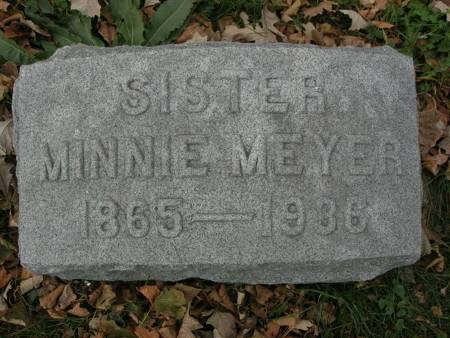 MEYER, MINNIE - Scott County, Iowa | MINNIE MEYER