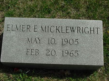 MICKLEWRIGHT, ELMER E - Scott County, Iowa | ELMER E MICKLEWRIGHT
