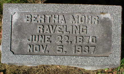 MOHR, BERTHA - Scott County, Iowa | BERTHA MOHR