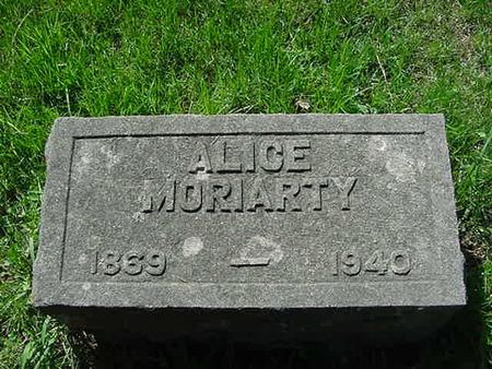 MORIARTY, ALICE - Scott County, Iowa | ALICE MORIARTY